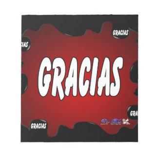 PRODUCTOS ROJOS DEL FONDO DE GRACIAS BLOCS DE NOTAS