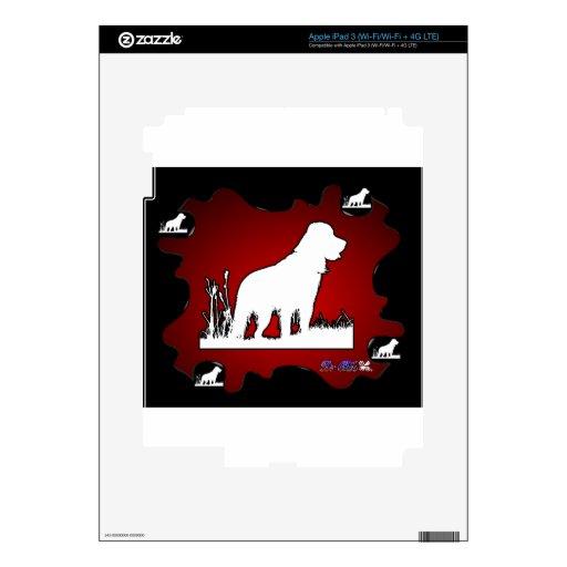 PRODUCTOS ROJOS DEL FONDO DEL PERRO iPad 3 PEGATINAS SKINS