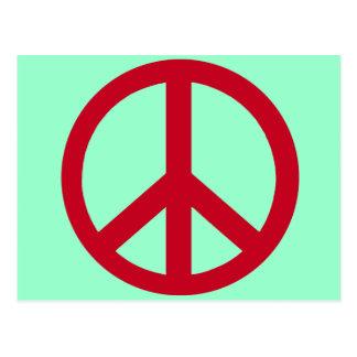 Productos rojos del signo de la paz postales