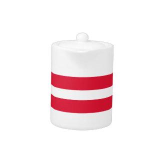 Productos rojos y blancos del personalizable de la