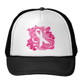 Productos rosados abstractos de la cinta gorros bordados