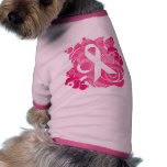 Productos rosados abstractos de la cinta ropa de mascota