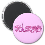 Productos rosados bonitos de París Imanes