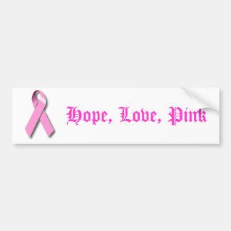 Productos rosados de la conciencia de la cinta etiqueta de parachoque