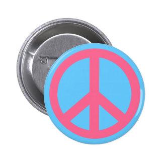 Productos rosados del signo de la paz pins