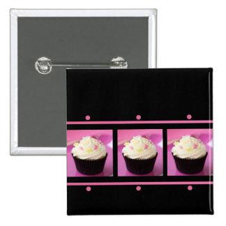 Productos rosados y negros del negocio de la magda pin cuadrado