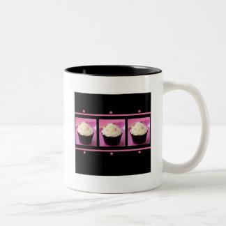 Productos rosados y negros del negocio de la taza de dos tonos