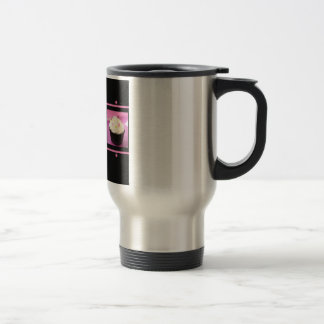 Productos rosados y negros del negocio de la taza térmica