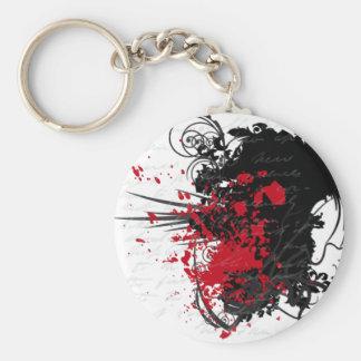 Productos sangrientos del diseño de letra llavero