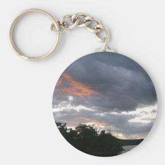 Productos temáticos de la salida del sol hermosa d llavero redondo tipo pin