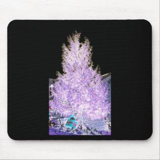 Productos temáticos del árbol de navidad que brill tapetes de ratones