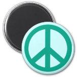 Productos verdes del signo de la paz del trullo imanes
