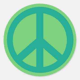 Productos verdes del signo de la paz del trullo etiquetas