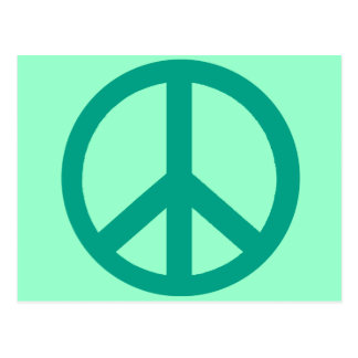 Productos verdes del signo de la paz del trullo postal