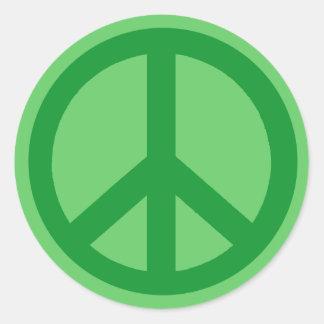 Productos verdes del signo de la paz etiquetas