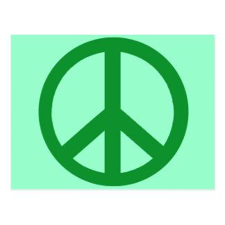 Productos verdes del signo de la paz postales