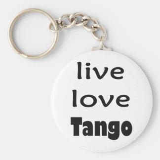 ¡Productos vivos del tango del amor! Llavero Redondo Tipo Pin