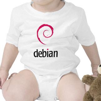 ¡Productos y diseños de Debian Linux! Traje De Bebé