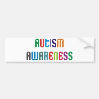 ¡Productos y diseños de la conciencia del autismo Pegatina De Parachoque