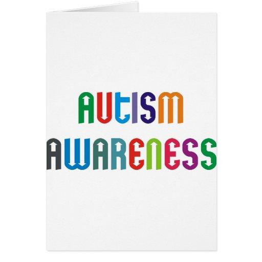 ¡Productos y diseños de la conciencia del autismo! Tarjeta