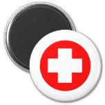 ¡Productos y diseños de la Cruz Roja! Imán Redondo 5 Cm