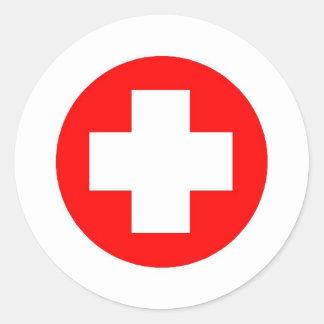 ¡Productos y diseños de la Cruz Roja! Pegatina Redonda