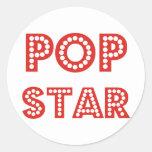 ¡Productos y diseños de la estrella del estallido, Pegatinas Redondas
