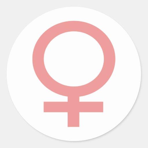 ¡Productos y diseños de la muestra de la mujer! Etiqueta Redonda