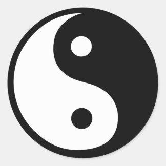 Productos y diseños de la paz de Feng Shui Pegatina Redonda