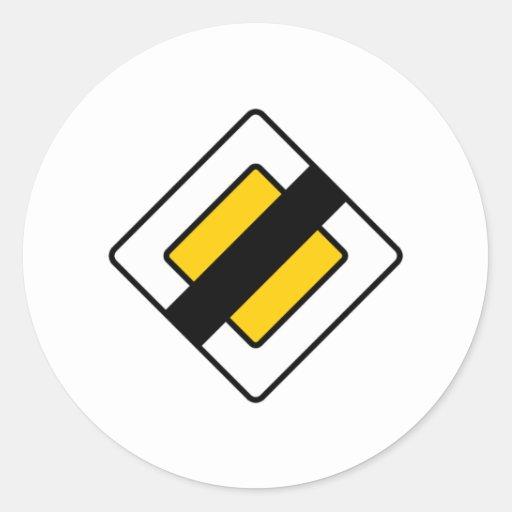 ¡Productos y diseños de las señales de tráfico! Pegatina Redonda
