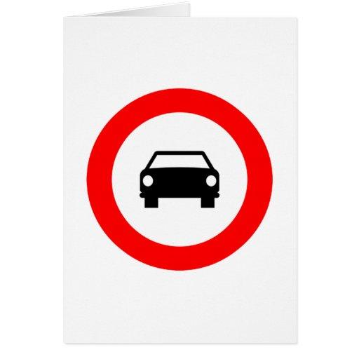 ¡Productos y diseños de las señales de tráfico! Tarjeta De Felicitación