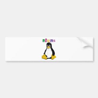 ¡Productos y diseños de Linux! Etiqueta De Parachoque