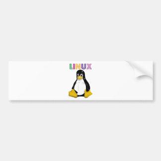 ¡Productos y diseños de Linux! Pegatina De Parachoque