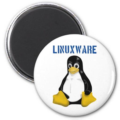 ¡Productos y diseños de Linux! Imán Redondo 5 Cm