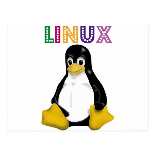 ¡Productos y diseños de Linux! Postales