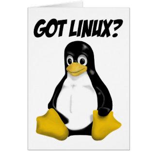 ¡Productos y diseños de Linux! Felicitación