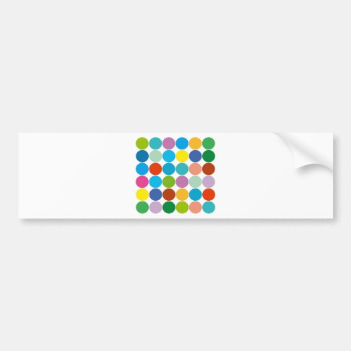 ¡Productos y diseños de los círculos! Pegatina De Parachoque