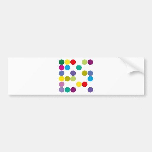 ¡Productos y diseños de los círculos de color! Pegatina Para Auto