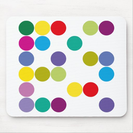¡Productos y diseños de los círculos de color! Alfombrilla De Raton