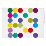 ¡Productos y diseños de los círculos de color! Tarjeton