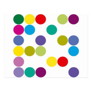 ¡Productos y diseños de los círculos de color! Tarjetas Postales