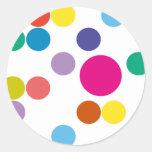 ¡Productos y diseños de los círculos! Etiqueta Redonda
