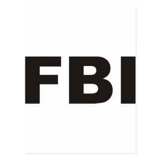 ¡Productos y diseños del FBI! Postales