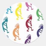 ¡productos y diseños del kokopelli! pegatinas redondas