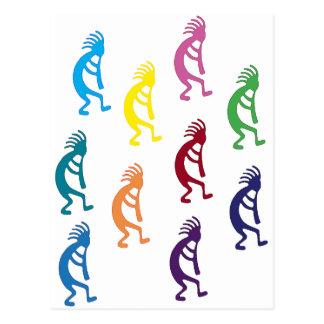 ¡productos y diseños del kokopelli! tarjeta postal