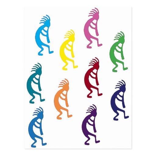 ¡productos y diseños del kokopelli! tarjetas postales