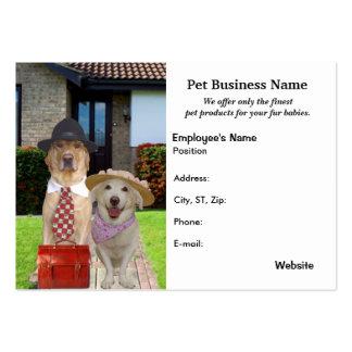 Productos y negocios del mascota plantillas de tarjeta de negocio