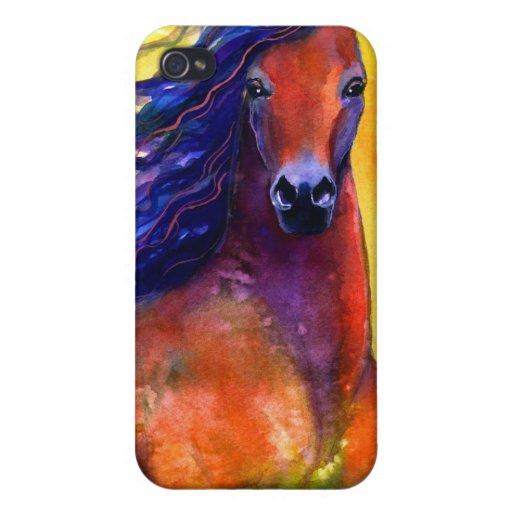 Productos y regalos árabes de la pintura del cabal iPhone 4/4S carcasas