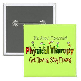 Productos y regalos de la terapia física pin cuadrado