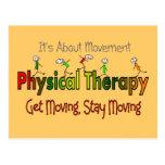 Productos y regalos de la terapia física tarjetas postales